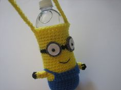 Water Bottle Holder Inspired By Minions by CaliforniaSweetPeas