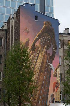 Drugi mural z Placu Europejskiego...