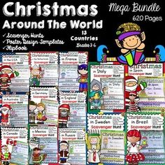 Wouldn't your students love to know how Christmas is celebrated all over the world? This 620 page Christmas Around the World Mega Bundle could just be the answer: https://www.teacherspayteachers.com/Product/CHRISTMAS-2236023