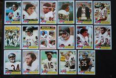 1981 Topps Chicago Bears Team Set of 17 Football Cards #ChicagoBears
