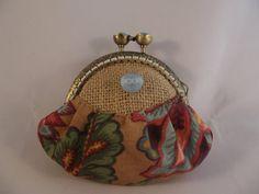 Small coin purse, hessian fabric purse, fabric purse, coin purse,purse,gift,bags and purses, fabric coin purse,framed coin purse