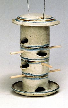 handmade pottery bird feeders - Google Search
