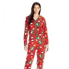 f98f9bda73 Hello Kitty Women s Ugly Holiday Footed Pajamas with Hood