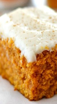 """Grandma's Pumpkin Snack Cake (Kitchen Meets Girl). """"Super easy to make and so soft and cinnamon-spicy good."""""""