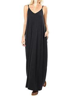 c13cc8765848 Ericdress Floor-Length Sleeveless Pocket Plus Size Backless Dress en ...