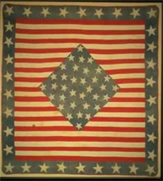 Stars & Stripes Quilt, red, white and blue