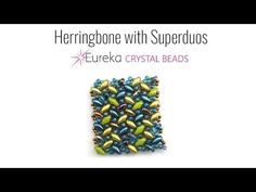 Herringbone with SuperDuos Beaded Jewelry Patterns, Bead Patterns, Free Beading Tutorials, Seed Bead Projects, Making Bracelets With Beads, Super Duo Beads, Twin Beads, Beaded Bracelets Tutorial, Herringbone Stitch