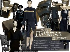 Fall Winter 2014-15, Dark Daywear Elegance a key trend theme, women's apparel and accessories, main image