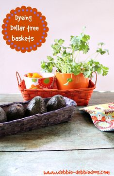 How to dye baskets. #dollartree.  You can have a ball with #ritdye color perfect.  Mix and match.
