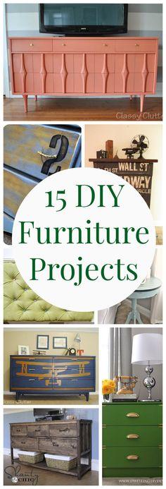 15 DIY Furniture Projects - www.classyclutter.net
