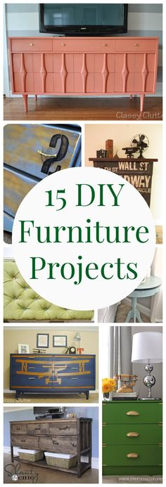 15 DIY Furniture Projects - www.classyclutter.net