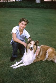 Color photo of Jeff and Lassie