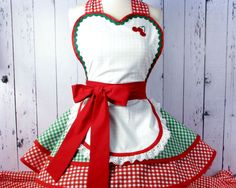 Sunshine Donuts Counter Girl Diner Waitress Apron -- in stock. $72.00, via Etsy. My new christmas apron...