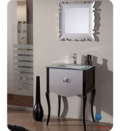 Pictures In Gallery Fresca Platinum Paris Glossy Silver Black Bathroom Vanity with Swarovski Handles Bathrooom Pinterest Beautiful Swarovski and Paris