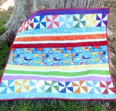 Quarter Yard Baby Quilt Pattern | You'll only need about a yard of fabric for this quilt!