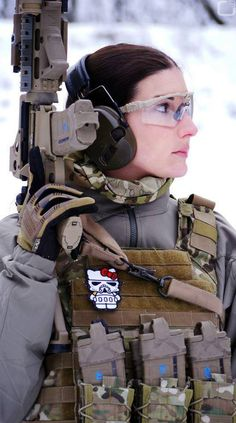 Female Airsofter, Why not have fun with the tactical side of prepping and even airsoft? female airsofters are better then most girls