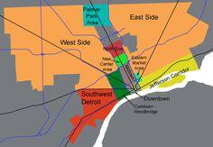 Major Detroit Areas