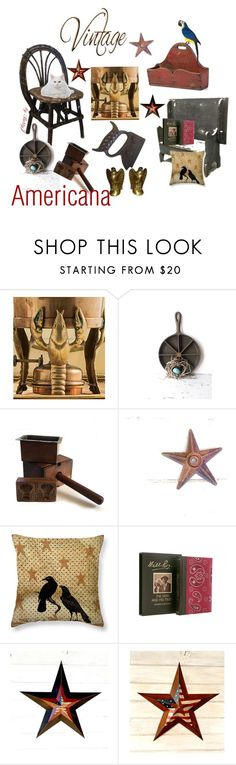 """""""Americana"""" by plumsandhoneyvintage ❤ liked on Polyvore featuring interior, interiors, interior design, home, home decor, interior decorating, rustic and vintage"""