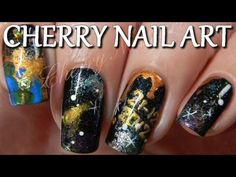 Tuto nail art galaxie - 21 decembre 2012 la fin du monde Nail Art Galaxy, Art Galaxie, Cherry Nail Art, Perfect Nails, Cute Nails, Nail Designs, Pretty Nails, Nail Desings, Nail Design