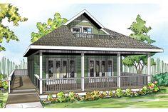 Cottage Style House Plan - 2 Beds 2 Baths 1120 Sq/Ft Plan #124-916 Exterior - Front Elevation - Houseplans.com