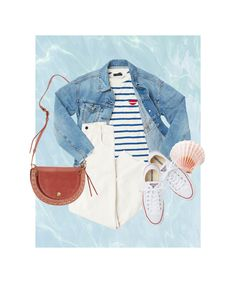 """Spring Look Picture Description These Easy Outfit Formulas Will Save The Day When You """"Accidentally"""" Hit Snooze+ Casual Summer Outfits, Simple Outfits, Cool Outfits, Spring Outfits, Look Magazine, Spring Summer Trends, Spring Looks, Things That Bounce, Color Pop"""