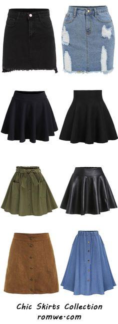 Chic Skirts 2017 - romwe.com