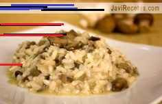 Risotto de setas y champiñones... mmmm mmm Grains, Rice, Food, Mushroom Risotto, Food Recipes, Meals, Laughter, Jim Rice, Korn