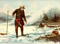 American Winter Sports, Trout Fishing at Chateaugay Lake Fish Wall Art, Fish Art, Trout Fishing, Fly Fishing, Vintage Prints, Vintage Posters, Adirondack Decor, Denver, Fishing Pictures