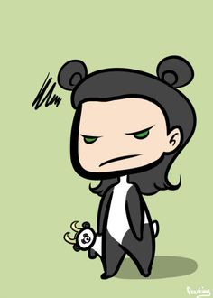 fearking: Loki may look like he hates it, but he doesn't. The little panda with the horned helm. It's so cuuuuuuuuute. Little Panda, Cute Comics, Tom Hiddleston, Loki, Minnie Mouse, Disney Characters, Fictional Characters, Merry Christmas, Fandoms