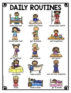 Kids Discover Thematic Vocabulary Posters - 20 Visual Posters of Vocabulary for Beginning ELLs Learning English For Kids, Kids English, Kids Learning, English Style, Teaching Spanish, Teaching Kids, English English, English Class, Daily Routine Chart For Kids