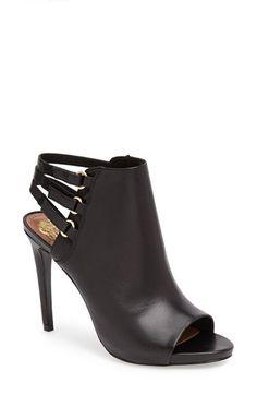 Vince Camuto 'Fenette' Leather Peep Toe Bootie (Women)