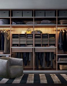 Smart Luxury Walk In Closet Design That Will Change Your Wardrobe Master Closet, Closet Bedroom, Closet Space, Bedroom Shelves, Walking Closet, Walk In Wardrobe, Wardrobe Design, Wardrobe Ideas, Wooden Wardrobe