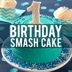 Watch this quick video tutorial to learn how to make a cute birthday smash cake topper that your little one will love!
