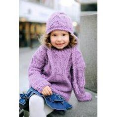 Trøje og hue til dame og barn (255-2 - Opskrift) - Gjestal