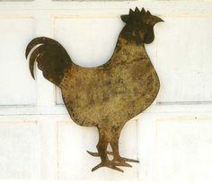 American Antique folk art tin Rooster