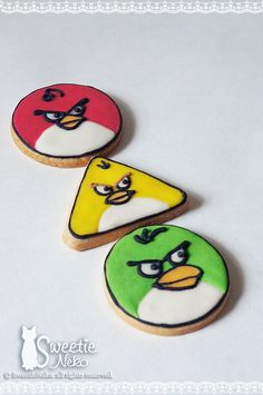 Angry Birds icing cookies