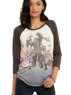 Star Wars: The Force Awakens Tour Girls Raglan - $28.50