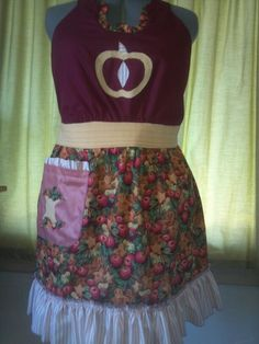 apple apron made by hand :)