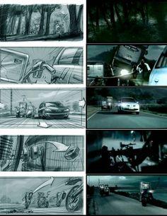 Car storyboards