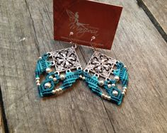 Micro macramé earrings boho jewelry macrame par creationsmariposa, $25.00