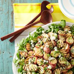 Get the recipe for Grilled Potato Salad with Blue Cheese Vinaigrette