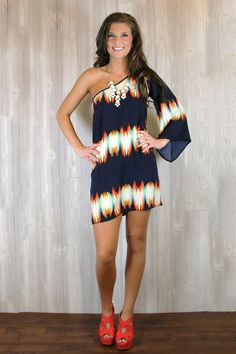 One Shoulder Melting Pot Dress