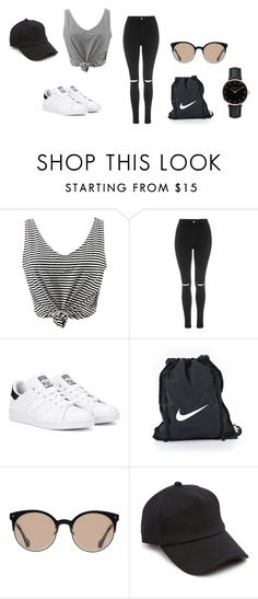 """""""Untitled #43"""" by jirahmaureen-tabanao on Polyvore featuring WithChic, Topshop, adidas Originals, NIKE, Balenciaga and rag & bone"""