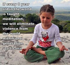 Learn to meditate...it might not straight eliminate violence, but it could foster so much more peace