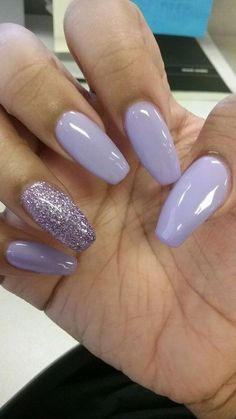 70 Most Eye-Catching Acrylic Coffin Nails Art for Prom and Wedding ♡ - Diaror. 70 Most Eye-Catching Acrylic Coffin Nails Art for Prom and Wedding ♡ - Diaror. Purple Acrylic Nails, Best Acrylic Nails, Acrylic Nail Designs, Nail Art Designs, Acrylic Art, Violet Nails, Lilac Nails With Glitter, Lilac Nails Design, Light Purple Nails