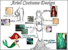 Mermaid Ariel costume Design by i love disney1, via Flickr