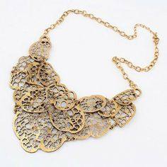 Exaggerated Openwork Irregular Geometric Pendants Women's Alloy Necklace #radiantk #necklace #jewelry