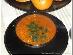 Chorba frik aux légumes printaniers(fèves, petits pois, artichauts)….Soupe Algériennes