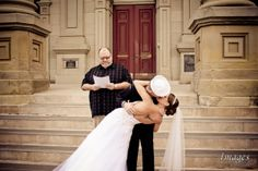 First Kiss - Steps of Ross County Ohio Court House in Chillicothe, Ohio.   #firstkiss #chillicotheweddingphotographer #rosscountycourthouse #weddingphotographer #freeengagementsession