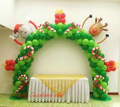 Christmas Decorations For Kids, Christmas Backdrops, Christmas Themes, Balloon Decorations, Balloon Garland, Balloon Arch, Birthday Decorations, Noel Christmas, All Things Christmas